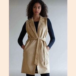 Aritzia Babaton Vest in Tuscan Olive Colour